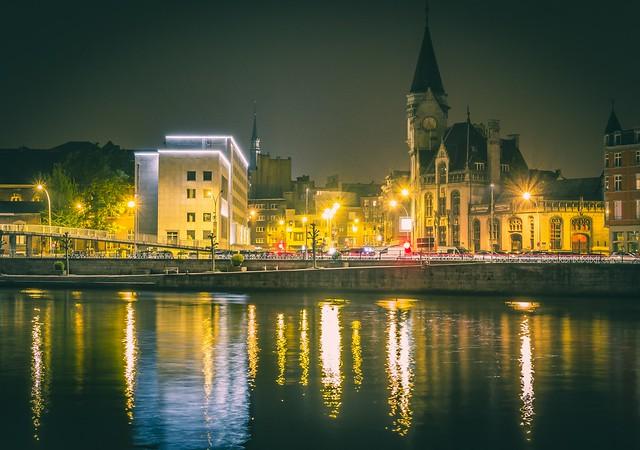 Meuse and City at night