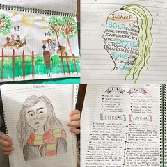 #levelup #visualnotes gr7 kids writing about reading #tcrwp #uwclearn #uwcsea_east