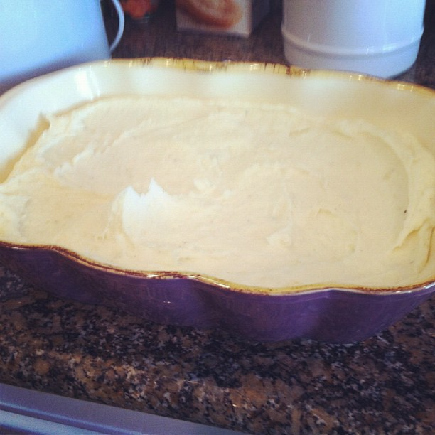 Project 365 327/365: Husband texting me meal progress. The Creamy Mashed Potatoes via @thepioneerwoman's recipe. Yum!