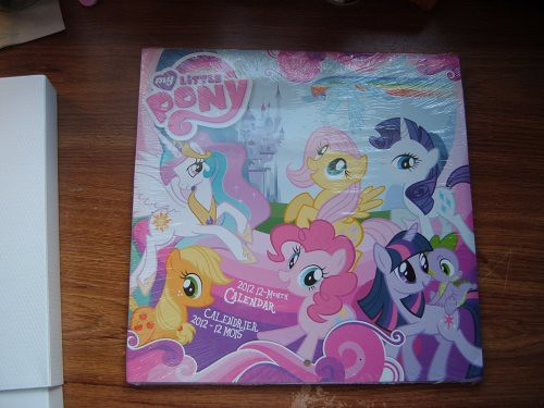 Cute My Little Pony Calendar (front)