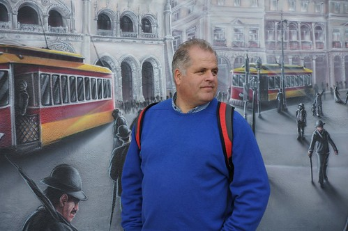 Fred, among the trams of Lisbon by CharlesFred