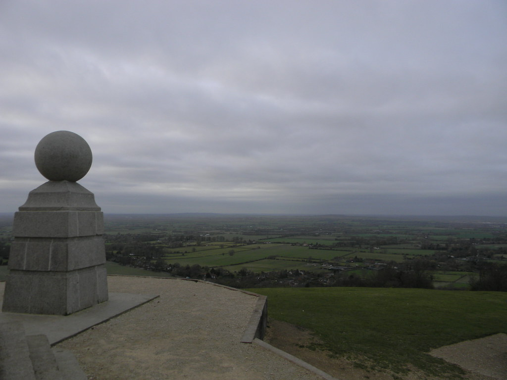 View from Coombe Hill The Chess piece is part of Coombe Monument. Princes Risborough to Wendover