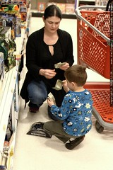 buying a toy with his own money, from his own wallet…