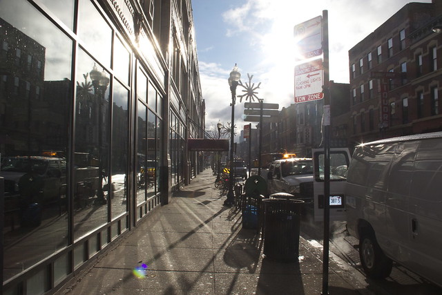 WIcker Park, Late November Morning with Bright Sun