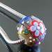 Charm bead : Lavender & green garden