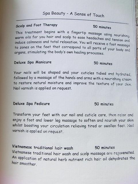 """Six Senses Spa """"treatment menu"""" 17"""
