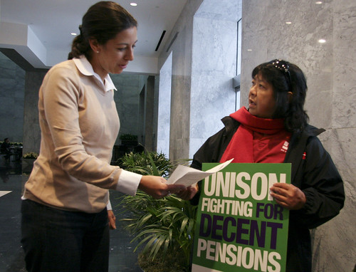 Zenei Cortez, RN delivers letter to San Francisco Consul General Priya Guha