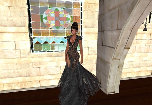 aDiva Couture Liquid Lace Gown Coal (blogger package 3) by Cherokeeh Asteria