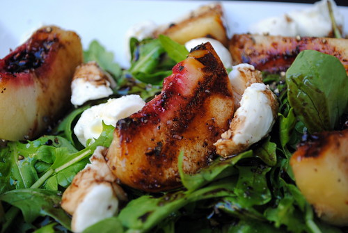 Grilled Peach and Buffalo Mozzarella Salad