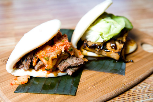 korean bbq short rib bao and tofu bao by TAKE A BAO