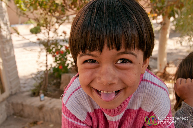 Iranian Girl, Playing Games - Yazd, Iran