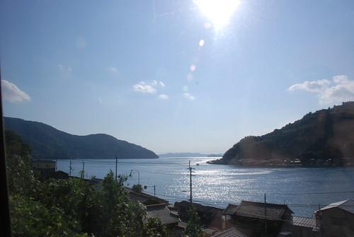 sea japan train coast view shikoku 日本 四国 ehimeken 愛媛県