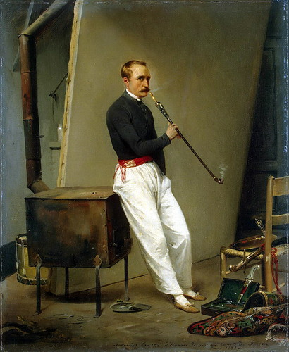 Horace Vernet - Self-Portrait [1835] by Gandalf's Gallery