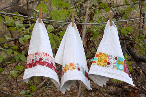 Fabric Embellished Tea Towel Tutorial by jenib320