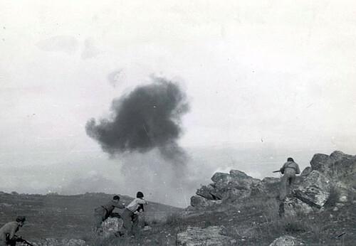 Tropas republicanas en La Serena (Extremadura). Julio de 1938