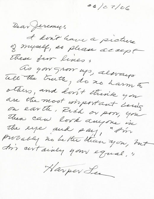 Letters Of Note: Advice From Harper Lee
