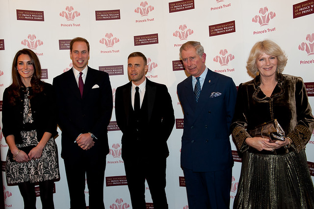 Kate Middleton and Gary Barlow at The Princes Trust Gig