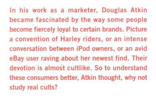 Excerpt from The Culting of Brands by Douglas Atkin