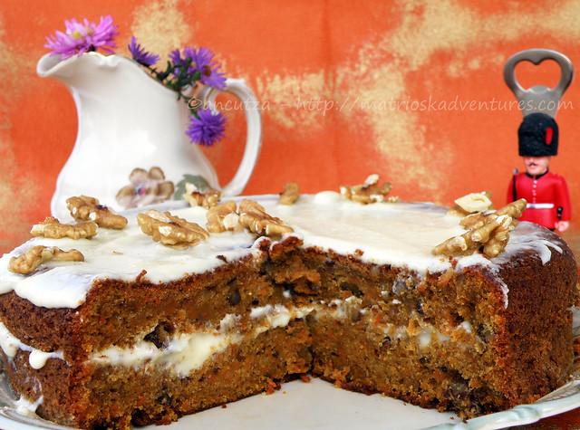 foto carrot cake torta inglese carote noci