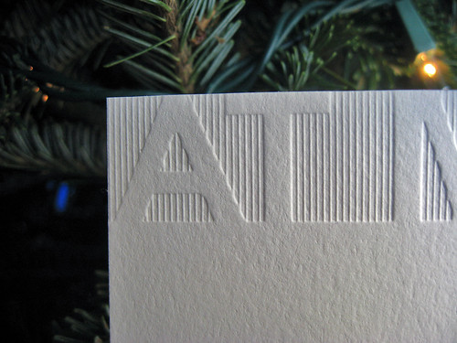At Media Letterpress Note Cards