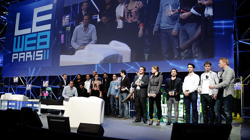 Tech startup awards at LeWeb 2011 in Paris.