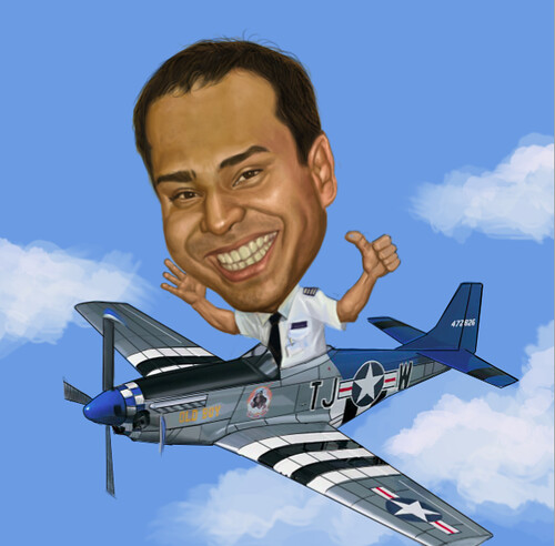 pilot digital caricature with Asterix - 3