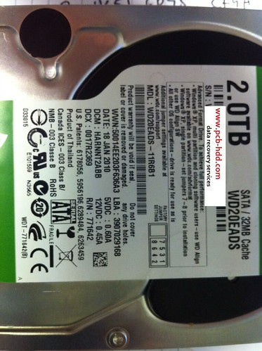 DATA RECOVERY WD20EADS-11R6B1