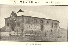 The Long Plains Memorial Hall in 1924.