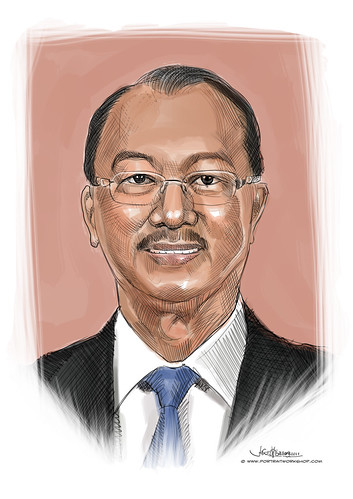 digital portrait of Low Kok Hua