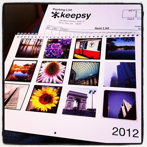 Thanks @keepsy for my 2012 Instagram Calendar