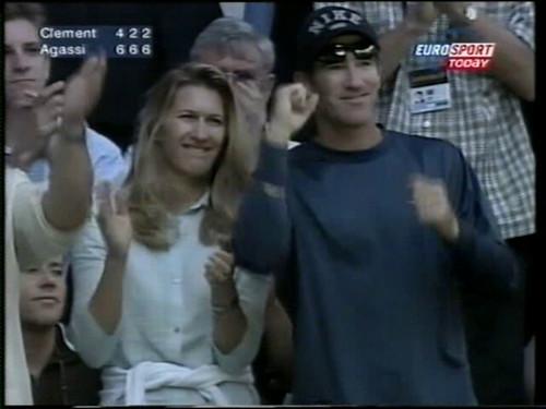 Steffi Graf and Brad Gilbert