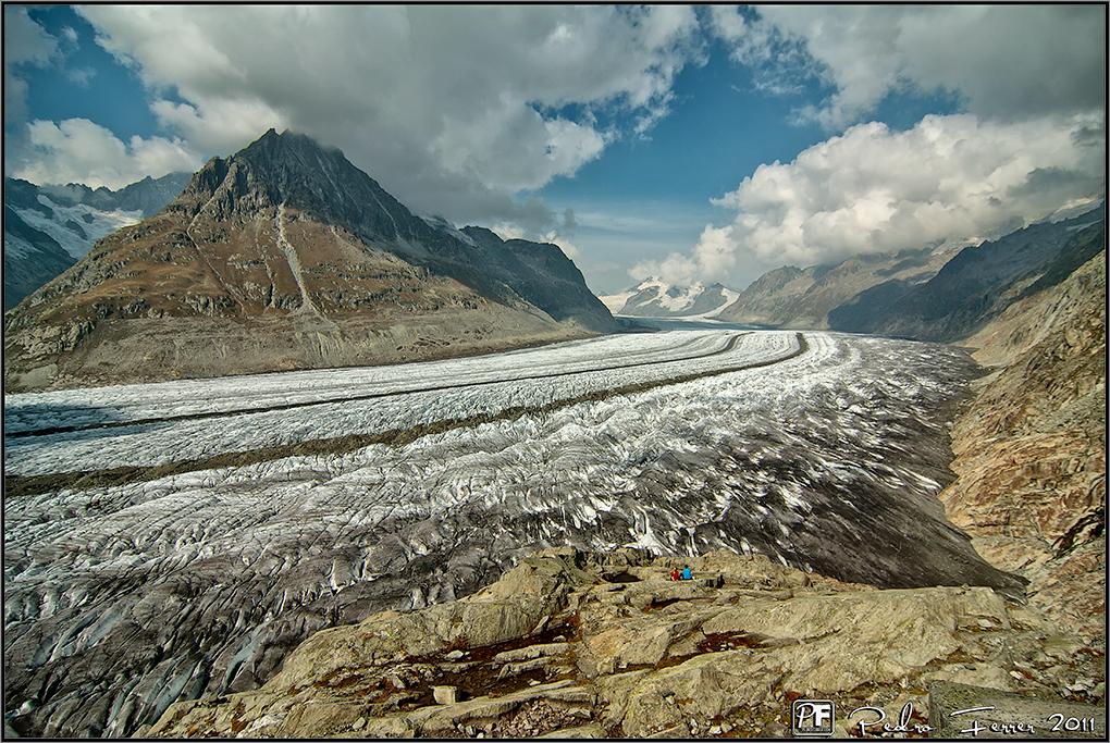 Suiza - Las montañas - Glaciar Alestch en detalle