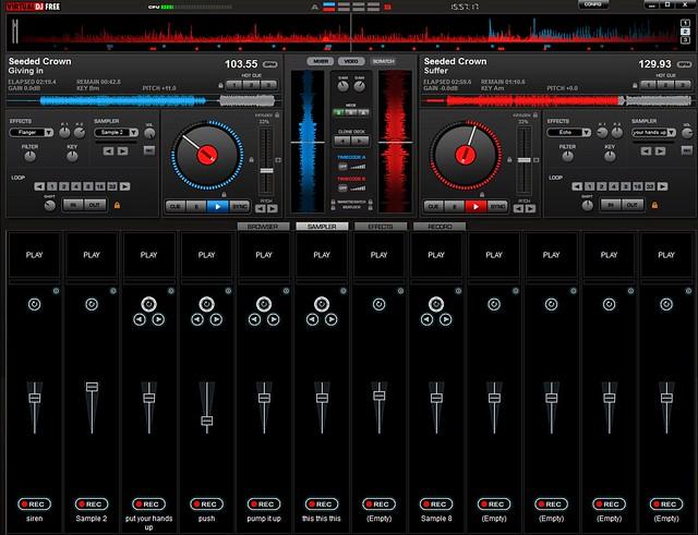Внешний вид программы Virtual DJ