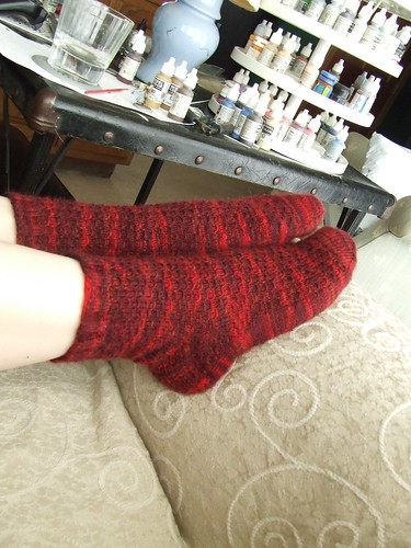 Ruby Red Rosehip Socks