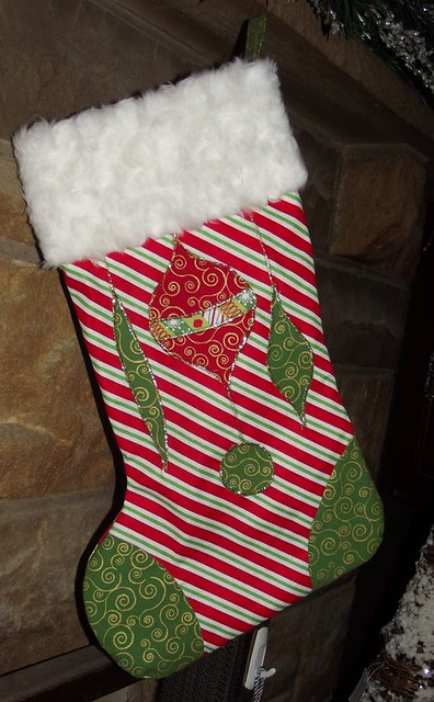 Retro Ornament Appliqued Stockings