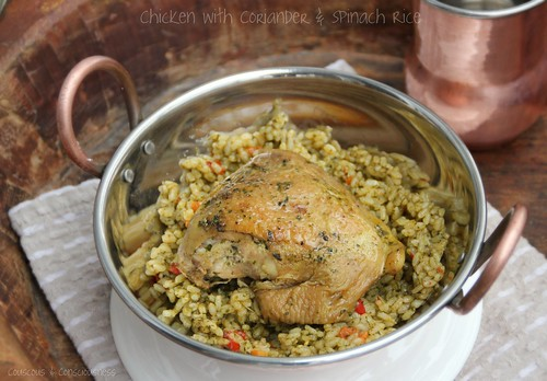 Chicken with Coriander & Spinach Rice 1