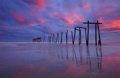 Sunset Broken Pier - Ocean City, New Jersey