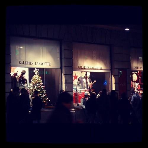 拉法葉百貨的聖誕櫥窗@Dijon