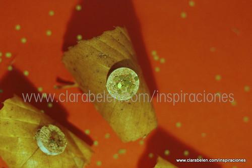 Manualidades con cosas caseras: corchos y hojas de castaño