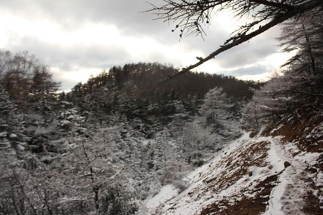 浅間山下山
