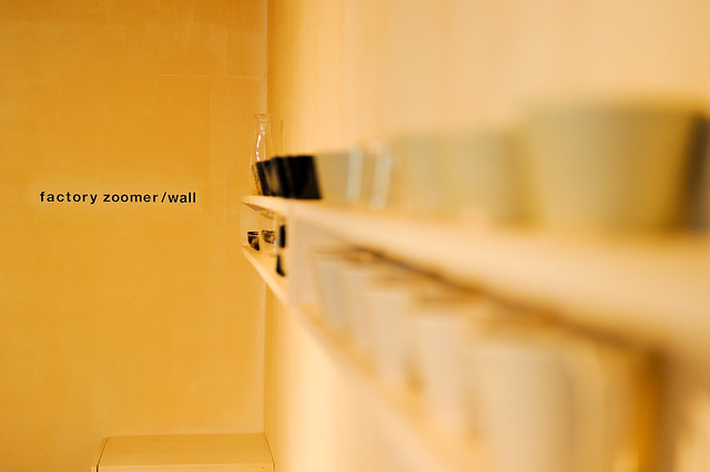 factory zoomer 杯子展售牆