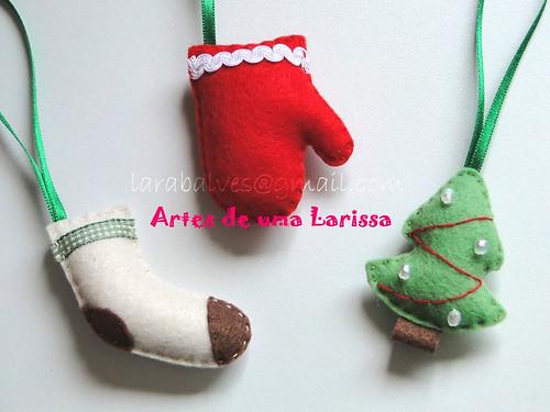Enfeites de Natal by Artes de uma Larissa