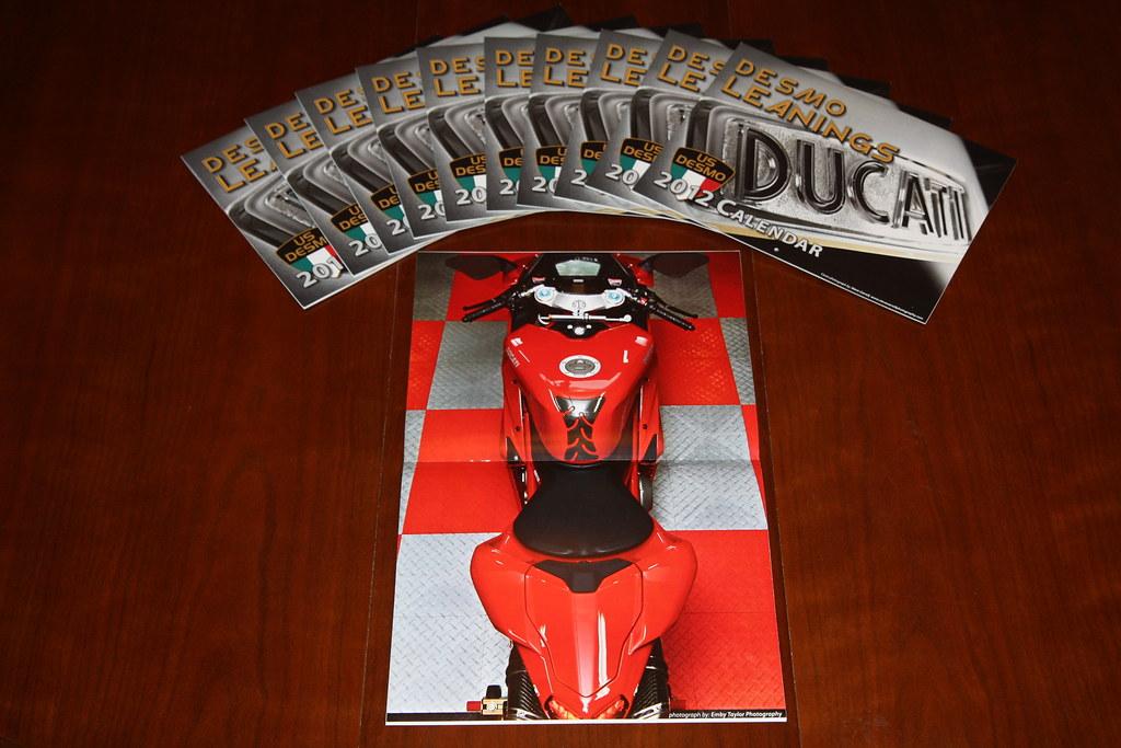 US DESMO Ducati Calendar Centerfold Spread photography