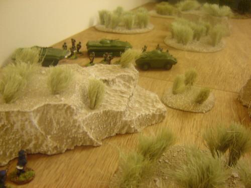Mujahideen behind the ridgeline