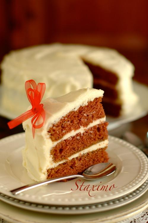 La torta di Babbo Natale: Red Velvet