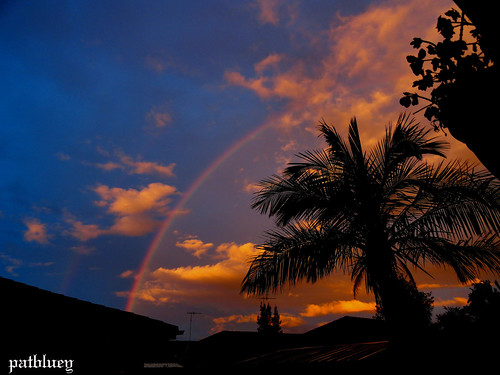 Sunset and rainbow Blacktown