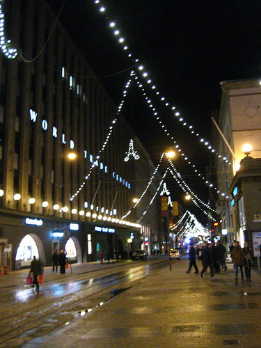 Aleksanterinkatu Christmas lights
