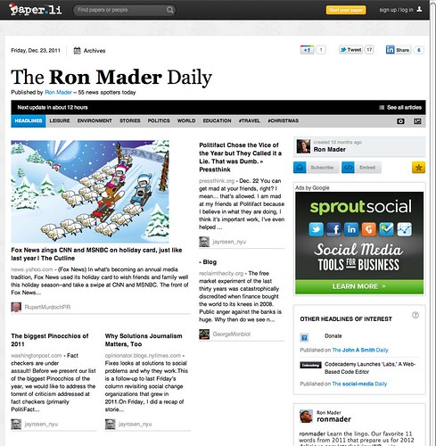Ron Mader Daily on Paper.li (20111223)