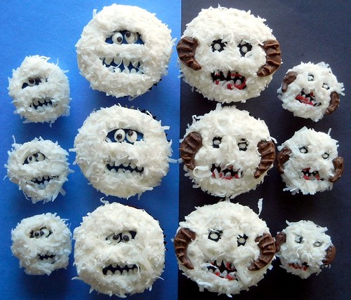 wampa and bumble cupcakes
