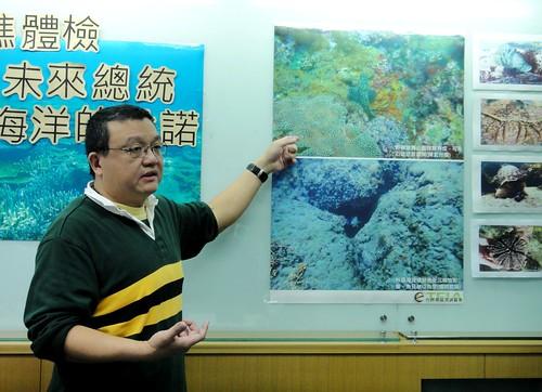 湖共生藻協會理事長陳昭倫指出,海洋資源日漸枯竭,劃設海洋保護區遠比其他措施簡易有效,花費也最少。